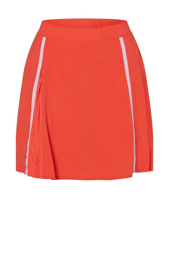Bogner Renja Neon Red Stretch Nylon Skirt
