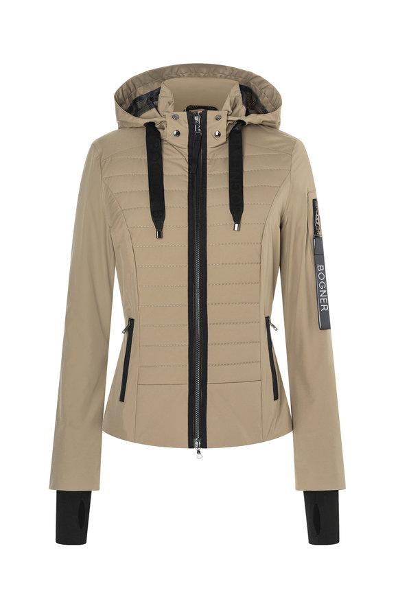 Bogner Dana-T Golden Almond Mechanical Stretch Jacket