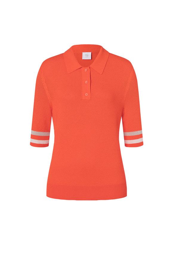 Bogner Ramina Neon Red Sport Viscose Blend Polo