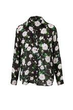 L'Agence - Nina Ivory & Black French Rose Blouse