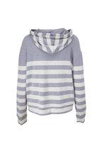 Majestic - Ciel & Ecru Stripe Soft Touch Hoodie