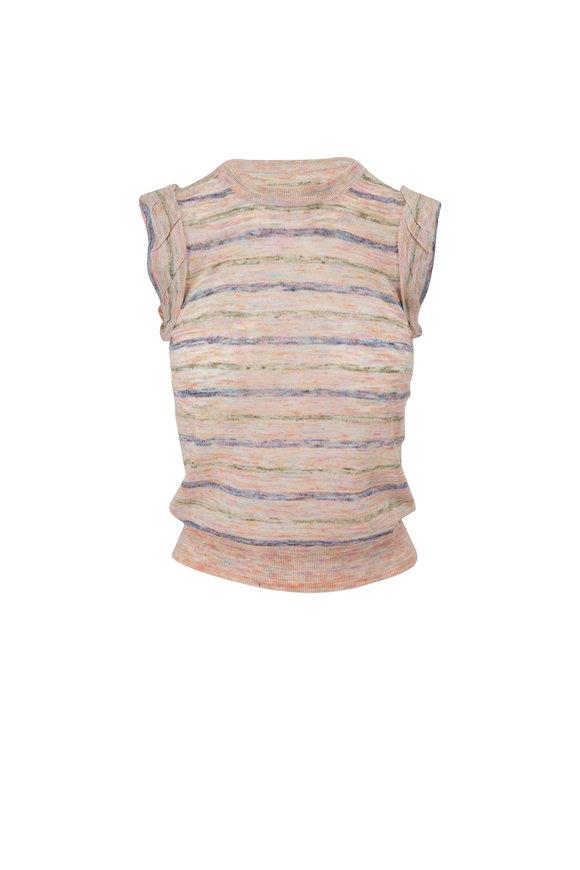 Veronica Beard Renly Pink Stripe Shell