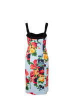 Carolina Herrera - Colonial Blue Multi Button Down Dress With Corset