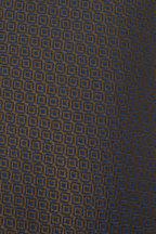 Charvet - Olive & Blue Geometric Print Silk Necktie