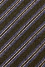 Charvet - Green & Gray Diagonal Stripe Necktie