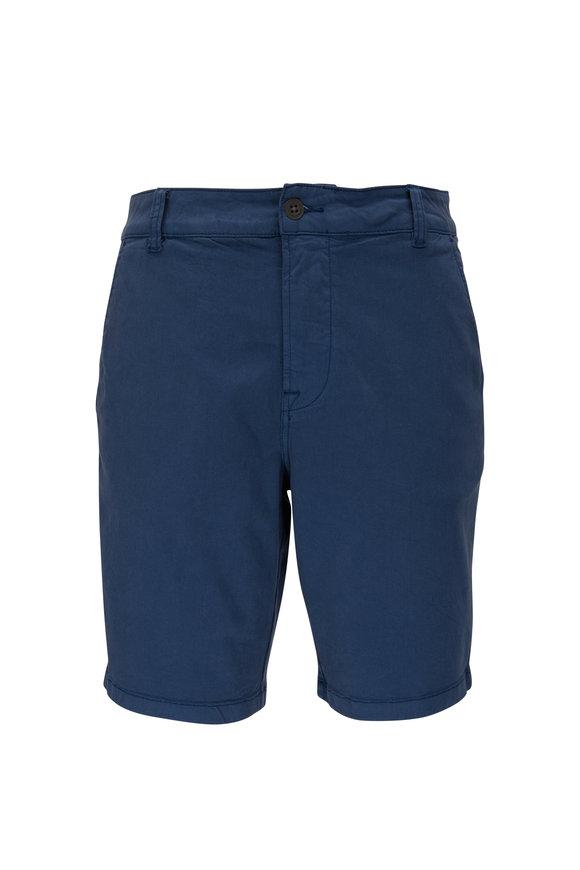 Hudson Clothing Navy Stretch Cotton Shorts