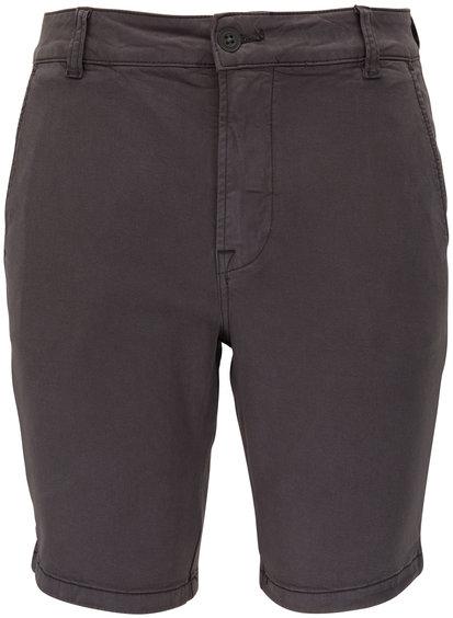 Hudson Clothing Dark Gray Stretch Cotton Shorts