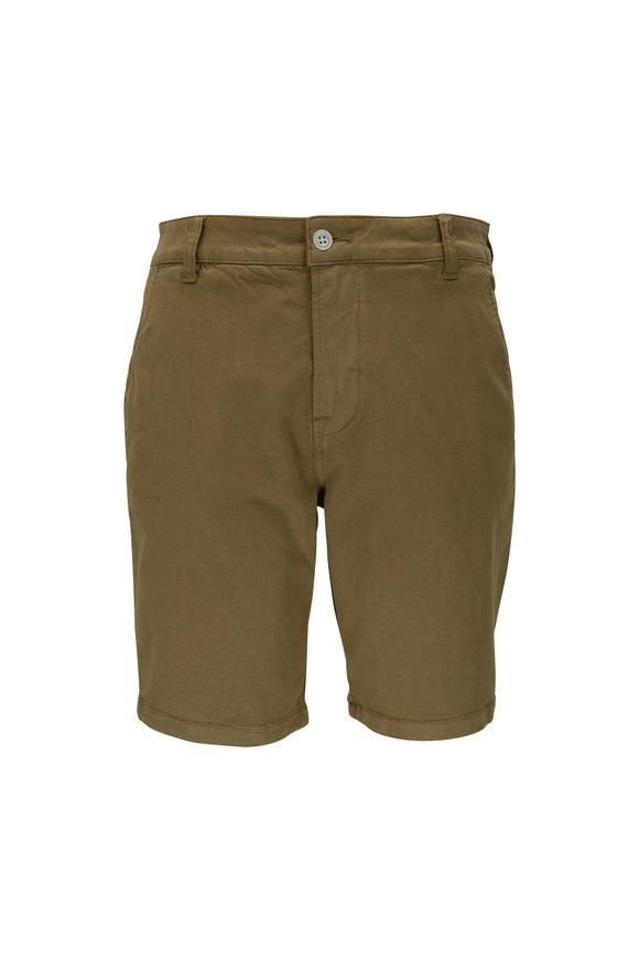 Hudson Clothing Olive Stretch Cotton Shorts