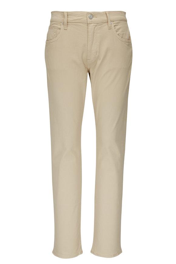Hudson Clothing Blake Light Beige Slim Straight Jean