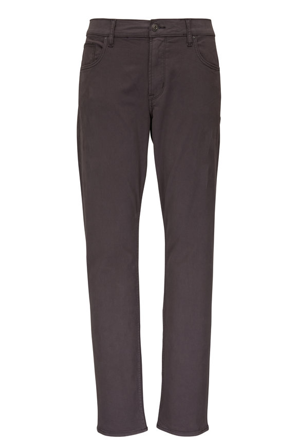 Hudson Clothing Blake Dark Gray Five Pocket Slim Straight Jean