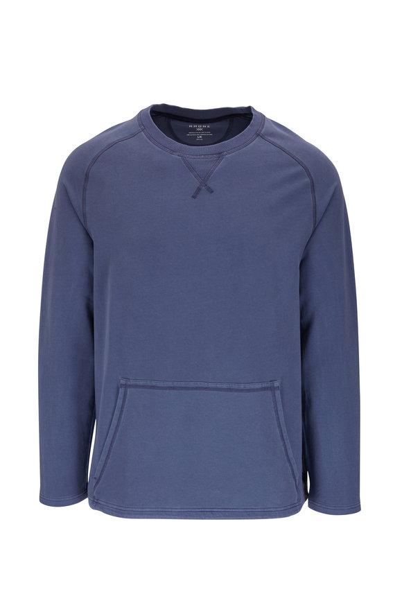 Rhone Apparel Bolinas Sun Dyed Indigo Crewneck Sweatshirt
