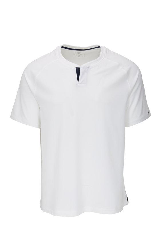 Rhone Apparel Delta White Notch Performance T-Shirt