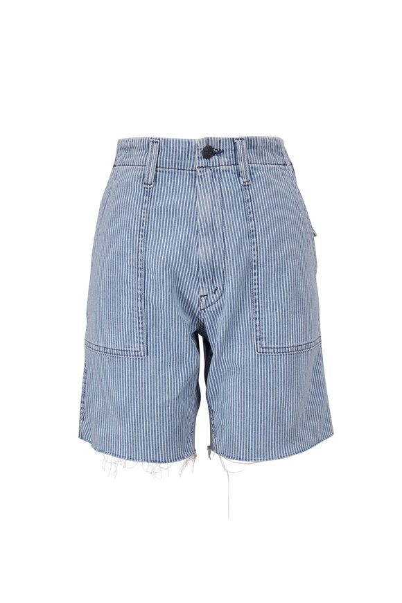 Mother Denim Patch Pocket Private Fray All Aboard Shorts