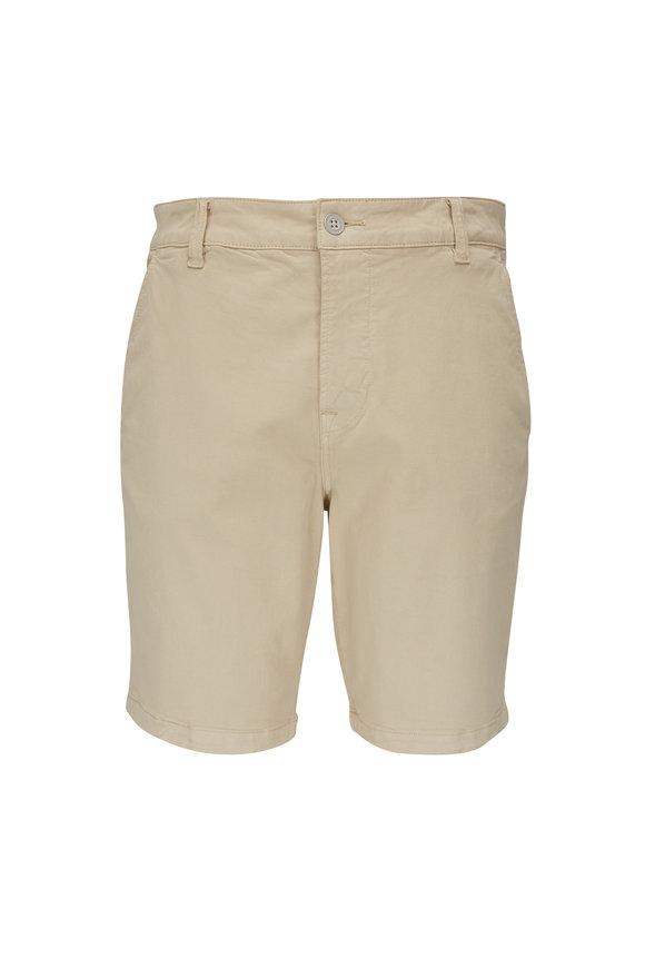 Hudson Clothing Light Beige Stretch Cotton Shorts