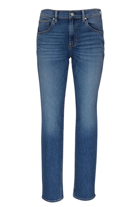 Hudson Clothing Blake Waves Mid-Rise Slim Straight Jean