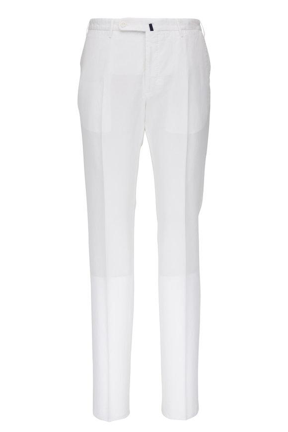 Incotex White Chinolino Regular Fit Pant