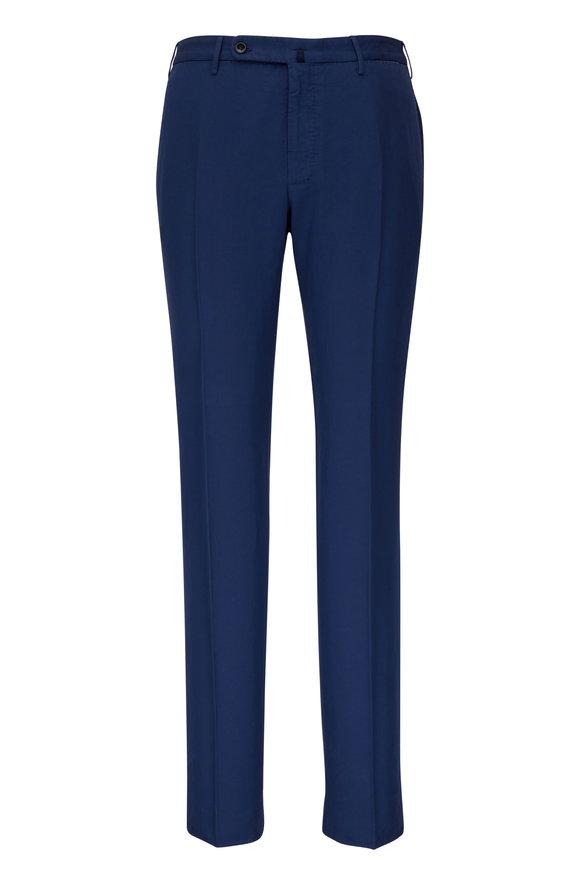 Incotex Navy Chinolino Regular Fit Pant