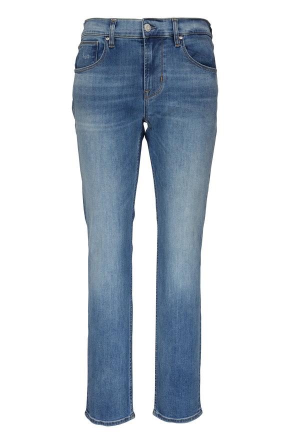 Hudson Clothing Black Sultan Mid-Rise Slim Straight Jean