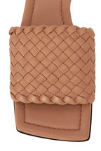 Bottega Veneta - Cipria Small Weave Leather Flat Slide