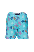 Vilebrequin - Moorea Blue Turtles Print Swim Trunks