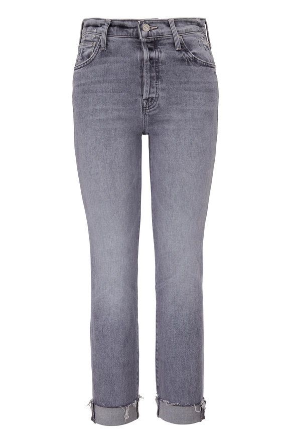 Mother Denim Scrapper Shadows In The Grass Cuff Ankle Fray Jean