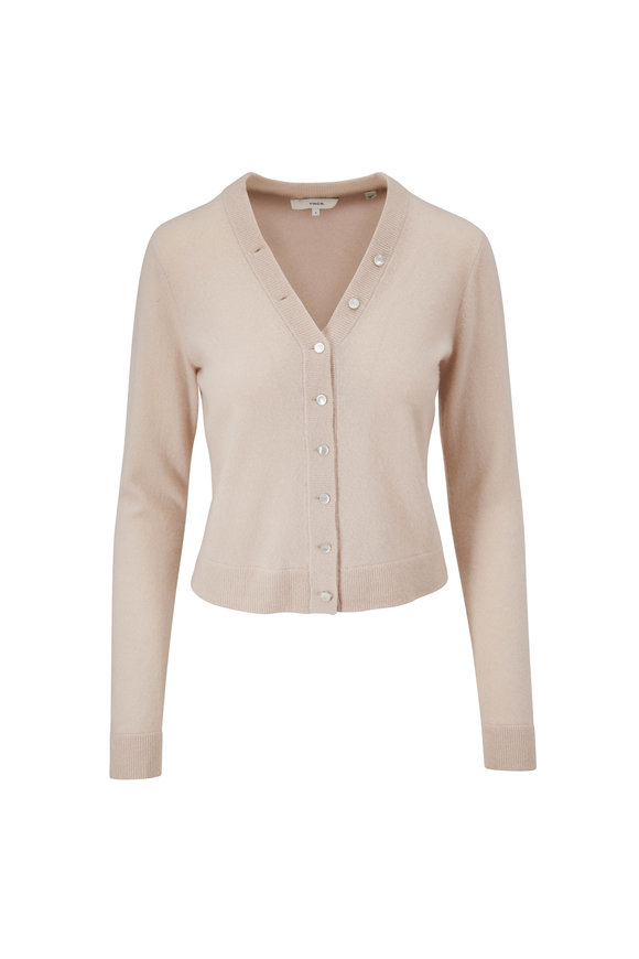 Vince Light Shell Cashmere Button Front Cardigan