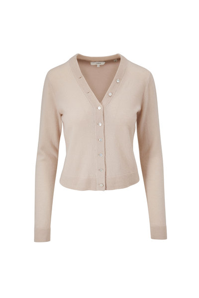 Vince - Light Shell Cashmere Button Front Cardigan