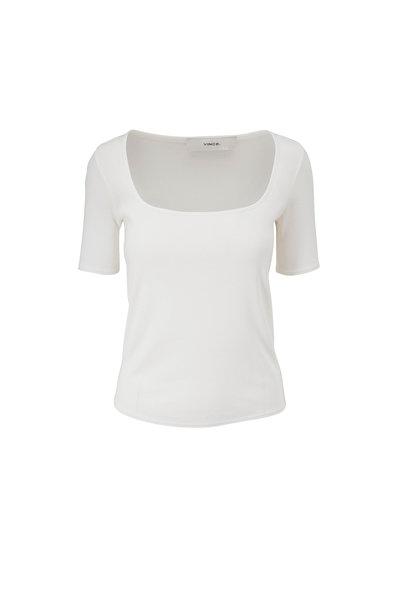 Vince - Optic White Square Neck T-Shirt