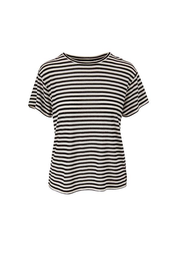 Vince Black & Bone Stripe Crewneck T-Shirt