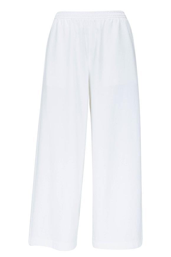 Vince Optic White Cotton Wide Leg Crop Pant