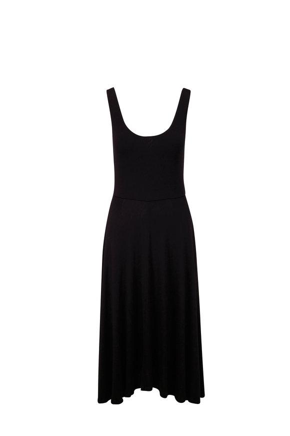 Vince Black Full Skirt Sleeveless Dress