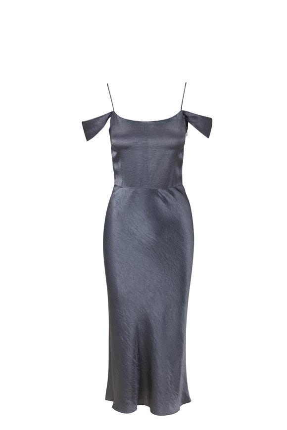 Vince Azure Stone Shoulder Strap Slip Dress