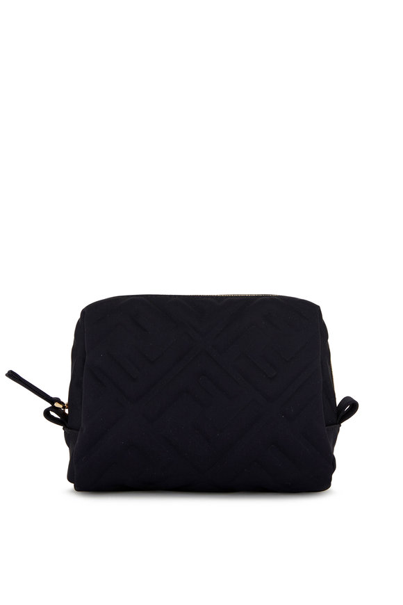 Fendi Black FF Embossed Small Zip Pouch