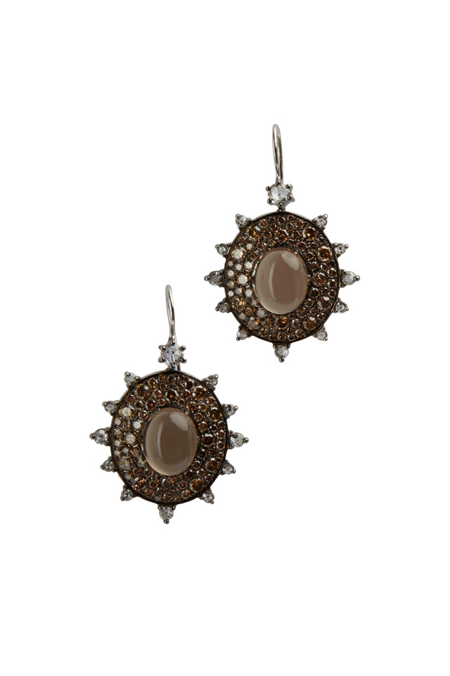 Chocolate Diamond Sunburst Earrings
