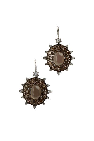 Nam Cho - Chocolate Diamond Sunburst Earrings