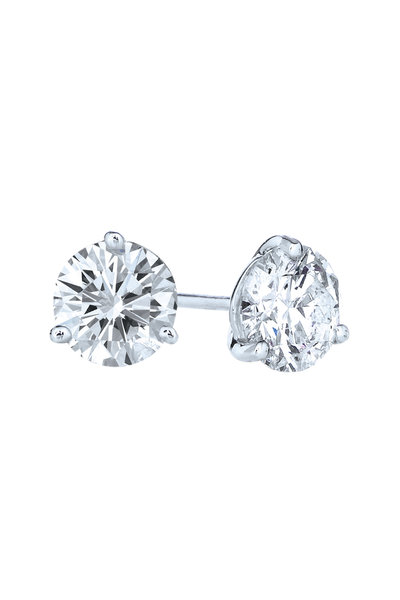 Kwiat - Platinum Diamond Studs, 1.41 TCW