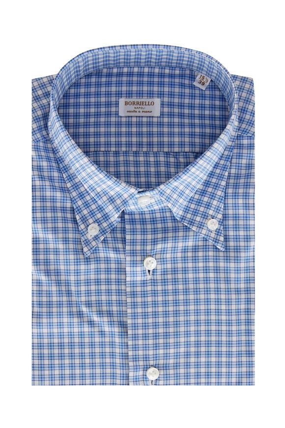 Borriello Blue Check Sport Shirt