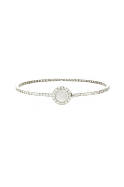 Nam Cho - 18K White Gold Moonstone & Diamond Bracelet