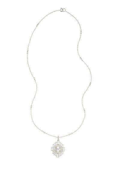 Nam Cho - 18K White Gold White Sapphire & Diamond Necklace