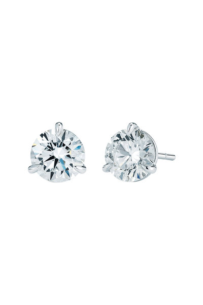 Kwiat - Platinum White Diamond Stud Earrings