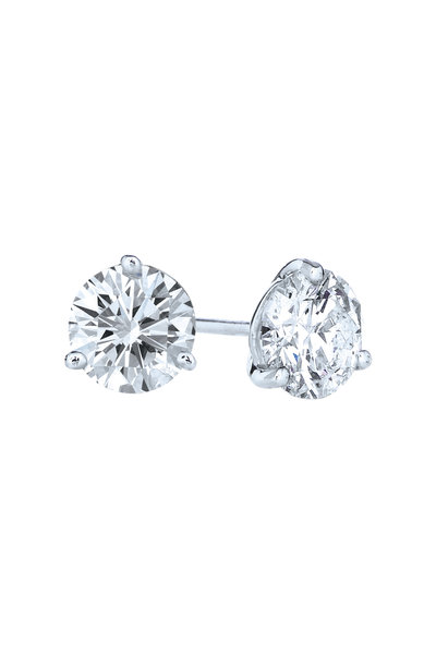 Kwiat - Platinum Diamond Studs, 1.43 TCW
