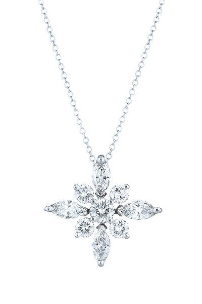 Kwiat - Platinum Diamond Star Pendant Necklace