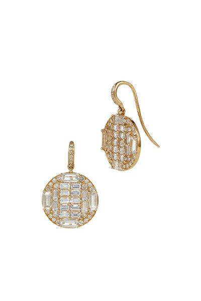 Nam Cho - 18K Pink Gold White Sapphire & Diamond Earrings