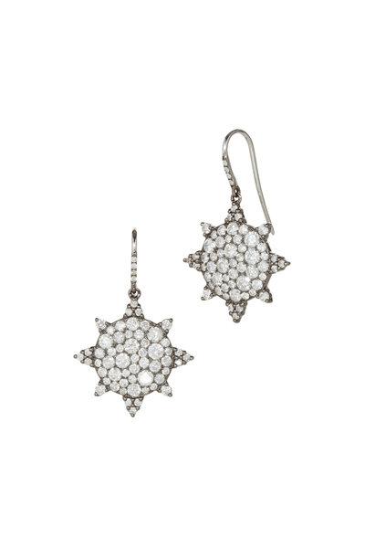 Nam Cho - White Gold White Diamond Star Earrings