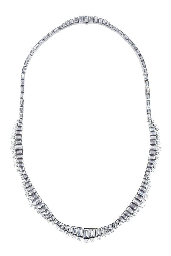 Nam Cho White Gold White Sapphire Necklace