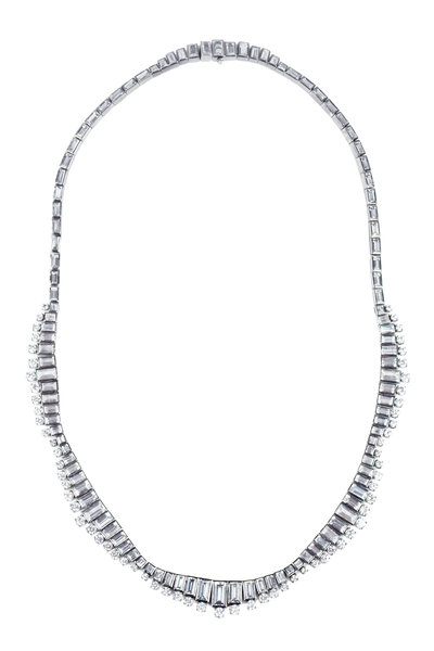 Nam Cho - White Gold White Sapphire Necklace
