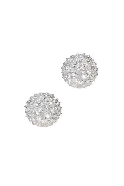 Nam Cho - White Gold White Diamond Stud Earrings