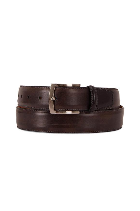 Magnanni Brown Leather Belt