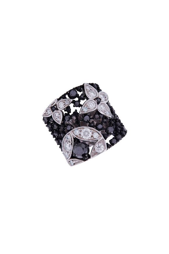 Mariani 18K White Gold Black & White Diamond Ring