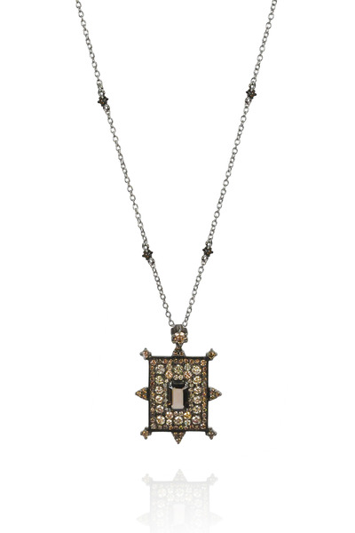Nam Cho - 18K White Gold Smokey Quartz & Diamond Necklace